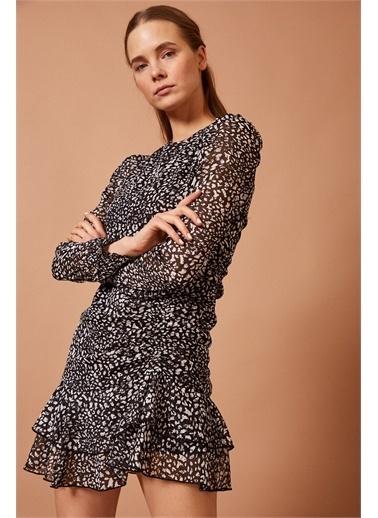 Never More Uzun Kollu Mini Elbise Siyah